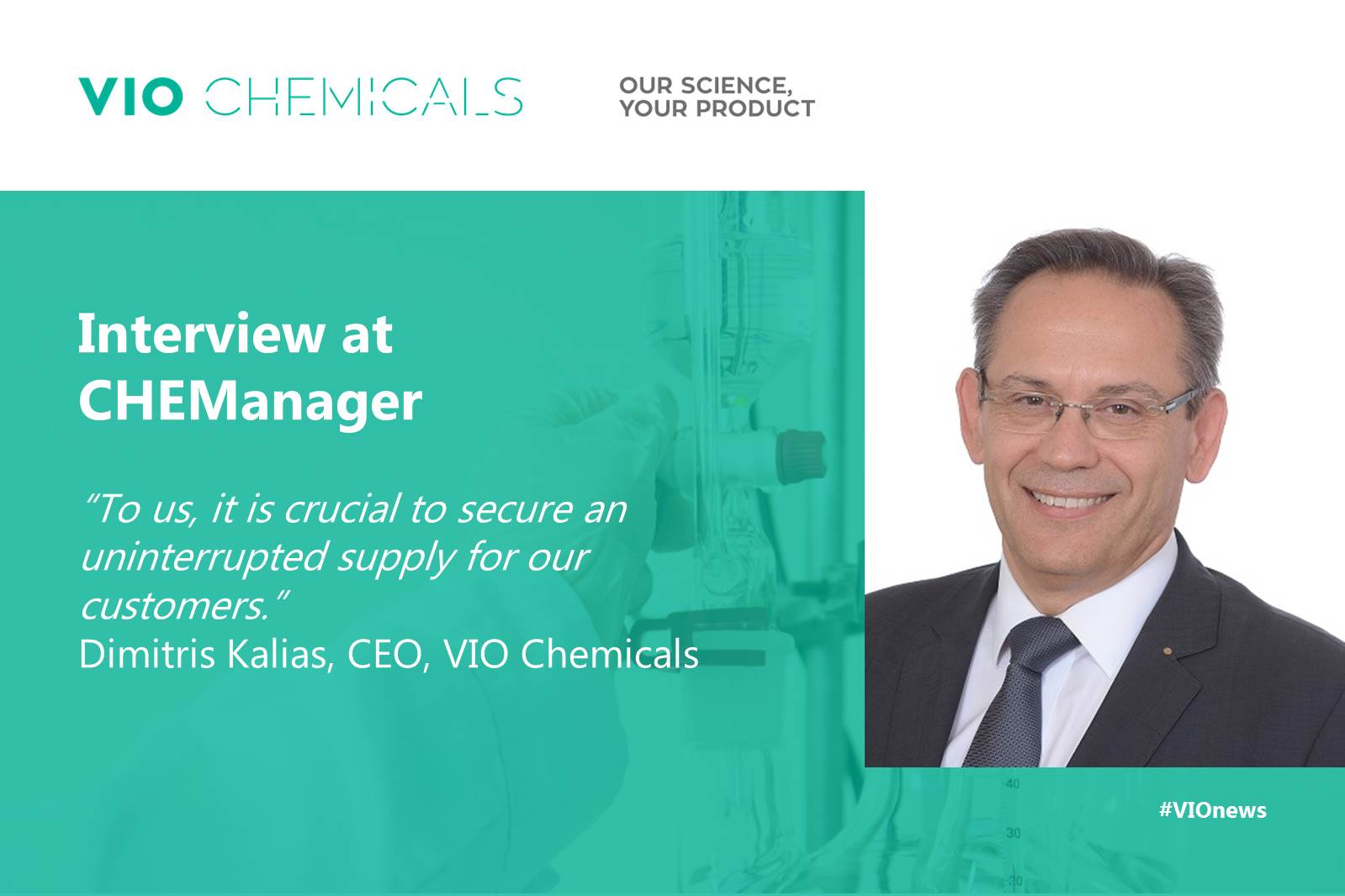 Dr. Kalias interview at CHEManager